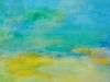 Blaue Lagune - Acryl auf Leinwand - 40x80