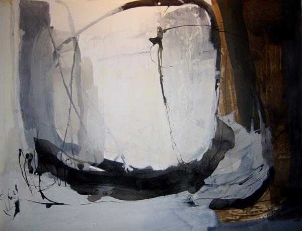Im Winter - Acryl auf Papier - 50x65