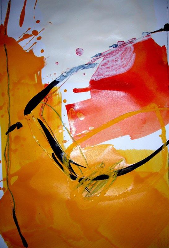 Skizze in Gelb I
