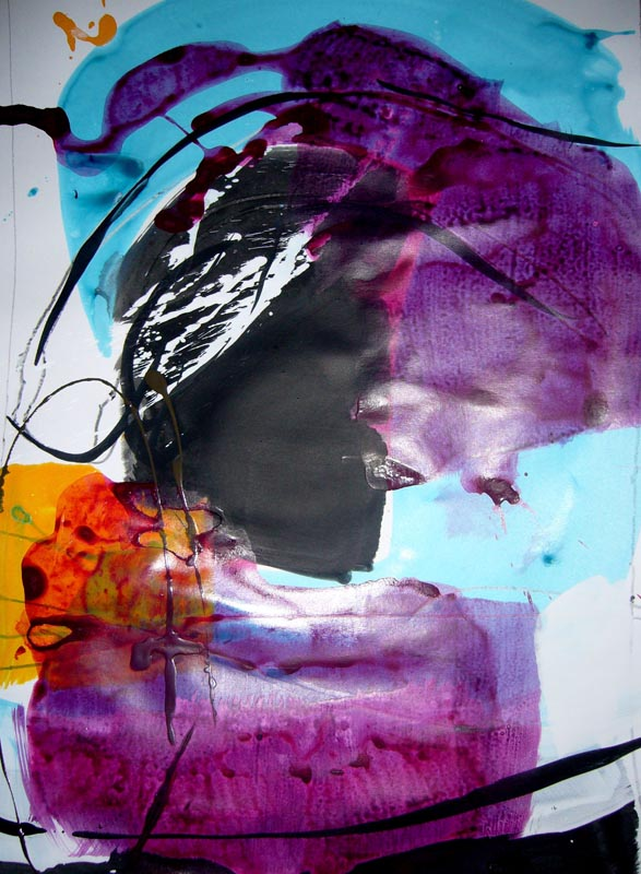 Skizze in Violett