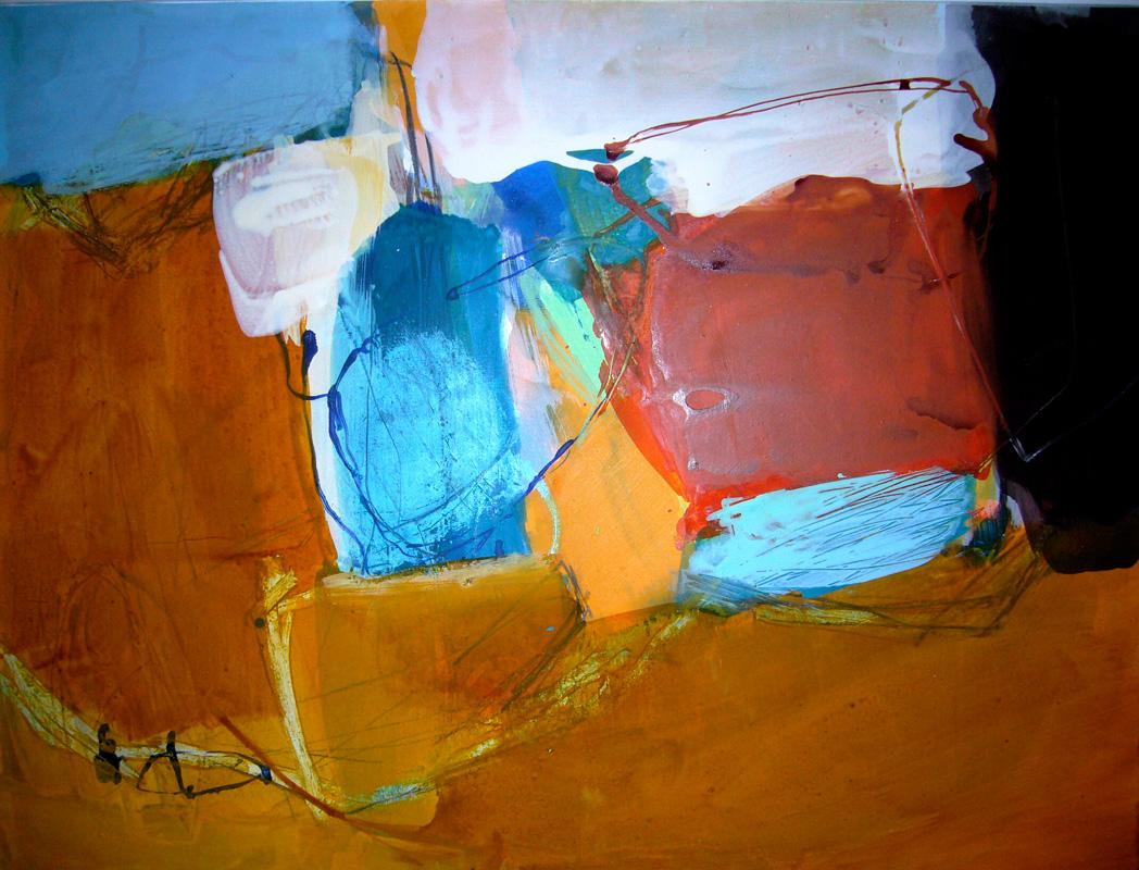 Wasser und Erde I - Acryl auf Papier - 50x65