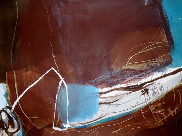 Wasser und Erde III - Acryl auf Papier - 50x65