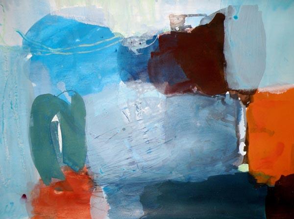 Wasser und Erde IV - Acryl auf Papier - 50x65