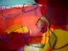 Farbklang in Rot II - Acryl auf Papier - 50x65