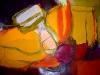 Farbklang in Rot III - Acryl auf Papier - 50x65