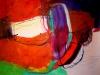 Farbklang in Rot I - Acryl auf Papier - 50x65