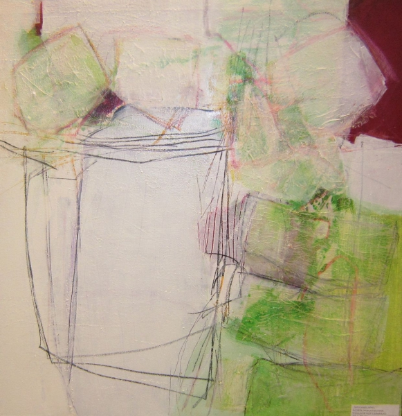 Wechselspiel - Collage auf Leinwand 70x70 cm