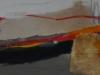 Serie I-III - Orange und Asche - Acrylmischtechnik - 140x40 cm