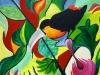 Dschungelvogel - Acryl auf Leinwand - 70x70