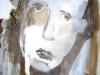 Gesicht I - Collage auf Papier