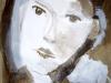 Gesicht II - Collage auf Papier
