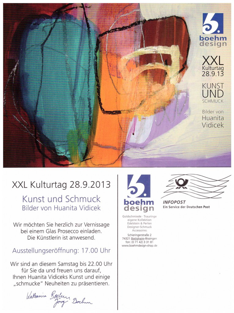 Einladungskarte Vernissage 28.09.13