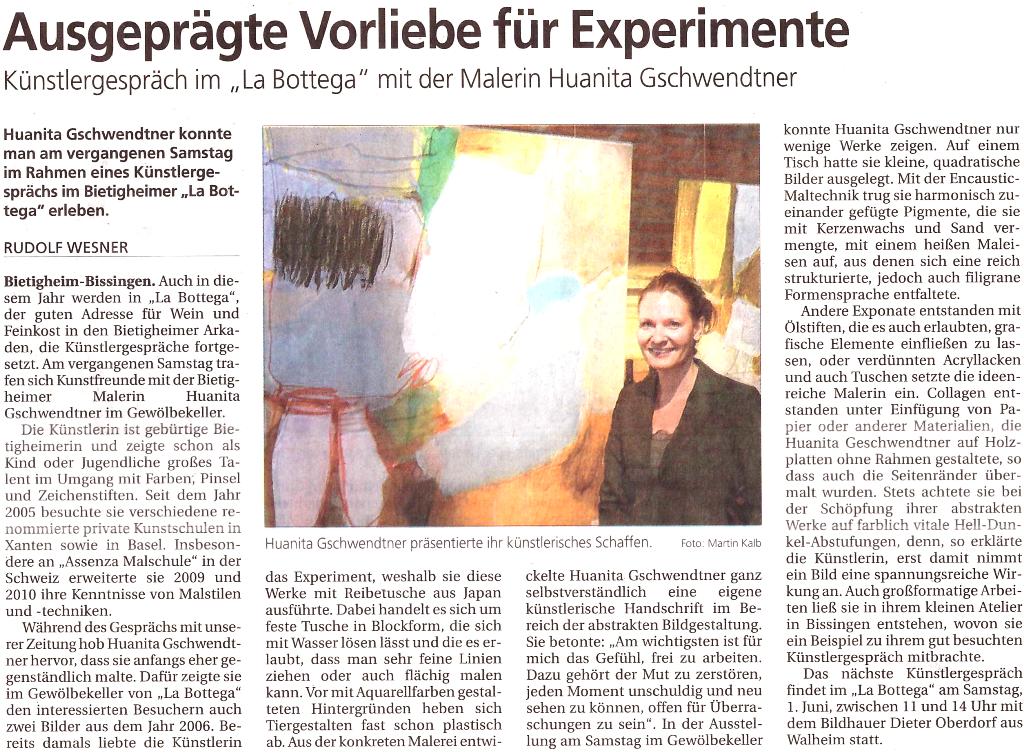 La Bottega 15. Mai 2013
